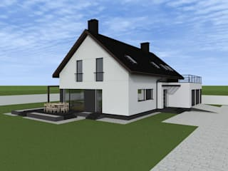 ap. studio architektoniczne Aurelia Palczewska Escritórios minimalistas