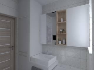 ap. studio architektoniczne Aurelia Palczewska Banheiros escandinavos