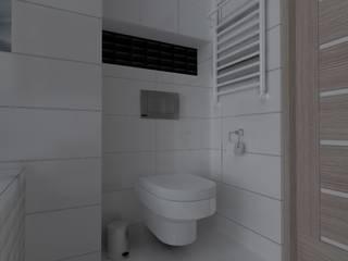 mieszkanie w Iławie Skandynawska łazienka od ap. studio architektoniczne Aurelia Palczewska Skandynawski