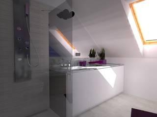 dom koło Olsztyna Nowoczesna łazienka od ap. studio architektoniczne Aurelia Palczewska Nowoczesny
