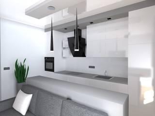 mieszkanie w Działdowie Minimalistyczna kuchnia od ap. studio architektoniczne Aurelia Palczewska Minimalistyczny