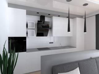 mieszkanie w Działdowie Nowoczesna kuchnia od ap. studio architektoniczne Aurelia Palczewska Nowoczesny