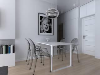 mieszkanie w Działdowie Eklektyczna jadalnia od ap. studio architektoniczne Aurelia Palczewska Eklektyczny