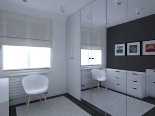 minimalistyczne mieszkanie w Iławie Nowoczesna garderoba od ap. studio architektoniczne Aurelia Palczewska Nowoczesny