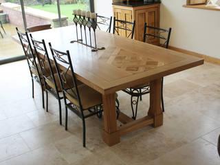 Final Oak Refectory Table:   by Mr J Designs