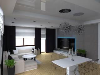 Eclectic style living room by ap. studio architektoniczne Aurelia Palczewska-Dreszler Eclectic