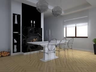 salon w Elblągu Eklektyczna jadalnia od ap. studio architektoniczne Aurelia Palczewska Eklektyczny