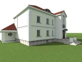 elewacje domu w Działdowie Klasyczne domy od ap. studio architektoniczne Aurelia Palczewska Klasyczny