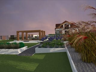 Modern garden by ap. studio architektoniczne Aurelia Palczewska-Dreszler Modern