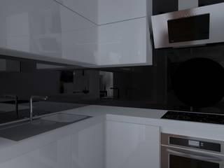 nowoczesne mieszkanie w Iławie Nowoczesna kuchnia od ap. studio architektoniczne Aurelia Palczewska Nowoczesny