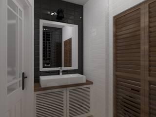mieszkanie industrialne w Iławie 2 Industrialna łazienka od ap. studio architektoniczne Aurelia Palczewska Industrialny