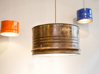 The Barrel Lamp - made from reclaimed oil barrels:   von Lockengelöt