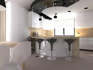 dom koło Nowego Miasta Lubawskiego Nowoczesna kuchnia od ap. studio architektoniczne Aurelia Palczewska Nowoczesny