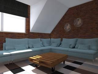 Industrial style living room by ap. studio architektoniczne Aurelia Palczewska-Dreszler Industrial