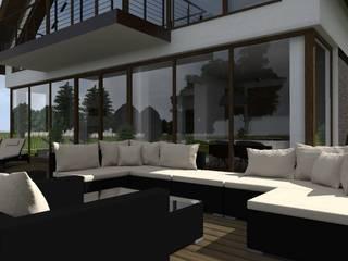 Modern balcony, veranda & terrace by ap. studio architektoniczne Aurelia Palczewska-Dreszler Modern