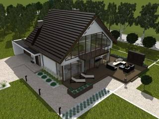 dom z ogrodem koło Nowego Miasta Lubawskiego Nowoczesne domy od ap. studio architektoniczne Aurelia Palczewska Nowoczesny