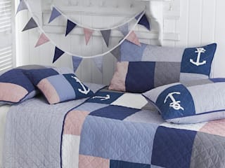 Sidmouth Patchwork Bedspread:   by Marquis & Dawe