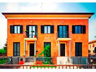 CASA BIFAMILIARE: Case in stile  di BORGHI ARCHITECT& PARTNERS