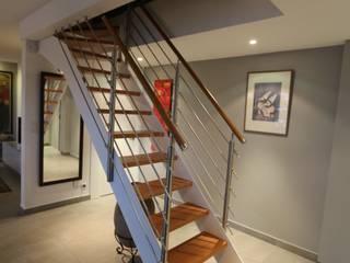 duplex Le Perreux sur Marne garnault Couloir, entrée, escaliers modernes