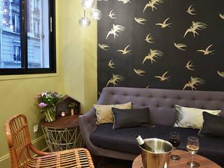 Restaurant LES INSEPARABLES Paris Jardin d'hiver scandinave par JC Peyrieux Design Scandinave
