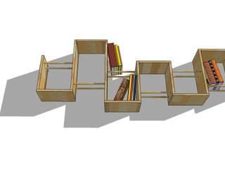 Bibliothèque design bois par Bibliotek.fr Moderne