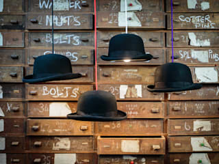 Charles Bowler Hat Light: modern Study/office by Mr J Designs