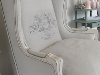 Gestofeerde stoel van gustaviaans vintage homestyle Rustiek & Brocante