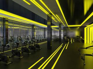 DUHOK - Fitness Center Modern Oteller Ayaz Ergin İç Mimarlık Modern