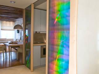 Corredores, halls e escadas modernos por Atelier TO-AU Moderno