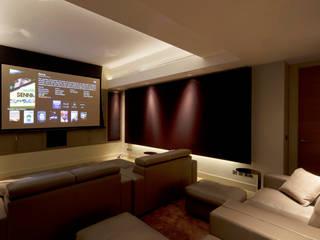 Holford Road 2 Salle multimédia moderne par KSR Architects Moderne