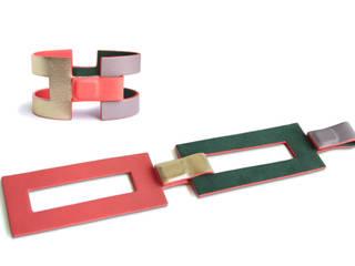 """""""Juliette"""" - Bracelet en cuir reversible et modulable par CAMILLE ROUSSEL Moderne"""