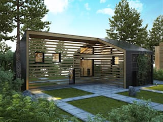 Casas de estilo minimalista de Архитектурное бюро и дизайн студия 'Линия 8' Minimalista
