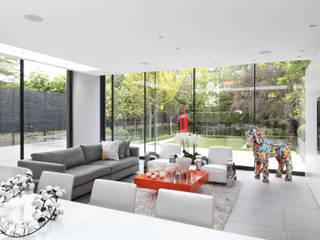 Hamilton Terrace Livings de estilo ecléctico de KSR Architects Ecléctico