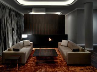 Appartment Moskau: moderne Wohnzimmer von SOHOarchitekten