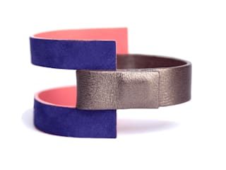 """""""Mona"""" - Bracelet en cuir réversible par CAMILLE ROUSSEL Moderne"""