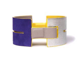 """""""Maud"""" - Bracelet en cuir double réversible et modulable par CAMILLE ROUSSEL Minimaliste"""