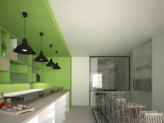 Interior del local: Locales gastronómicos de estilo  de ARQit estudio