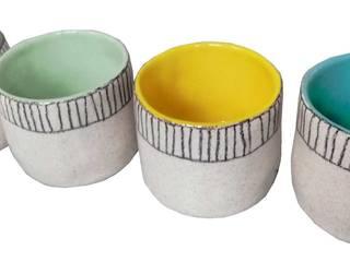 "gobelets ""she's like a rainbow:  de style  par sabine orlandini design céramique"