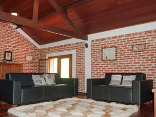 Rustic style living room by MARIA IGNEZ DELUNO arquitetura Rustic