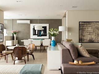 Apartamento Perdizes: Salas de estar  por Marilia Veiga Interiores,