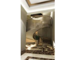 DUHOK - Villa Modern Koridor, Hol & Merdivenler Ayaz Ergin İç Mimarlık Modern