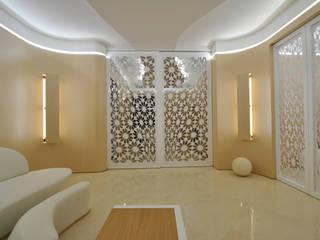 100%WOOD: Soggiorno in stile in stile Moderno di Marco Stigliano Architetto