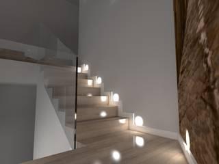 Pasillos, vestíbulos y escaleras modernos de ap. studio architektoniczne Aurelia Palczewska Moderno