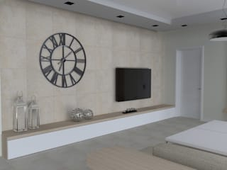 Modern living room by ap. studio architektoniczne Aurelia Palczewska-Dreszler Modern