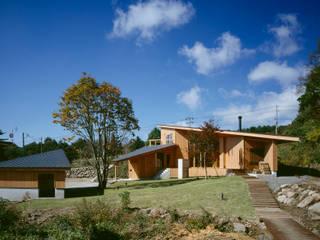 Villa Boomerang 森吉直剛アトリエ/MORIYOSHI NAOTAKE ATELIER ARCHITECTS Casas modernas