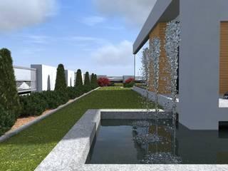 nowoczesny ogród w Olsztynie Minimalistyczny ogród od ap. studio architektoniczne Aurelia Palczewska Minimalistyczny
