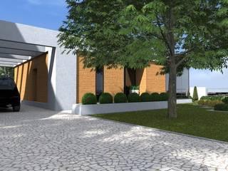 nowoczesny ogród w Olsztynie Minimalistyczne domy od ap. studio architektoniczne Aurelia Palczewska Minimalistyczny