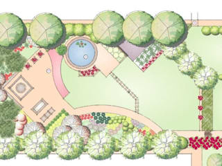 Landscape master plan by homify Modern