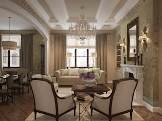 Квартира в классическом стиле: Гостиная в . Автор – COUTURE INTERIORS