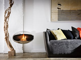 Cocoon Aeris Fireplace: modern Living room by Wharfside Furniture